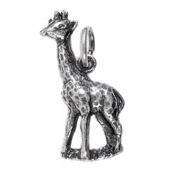 Anhänger Giraffen, Charms in Silber & Gold