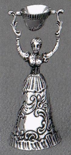 Brautbecher, Hochzeitsbecher in echt Silber 835
