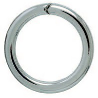 Spaltring, Schlüsselring in Sterling-Silber 925/000 für Anhänger