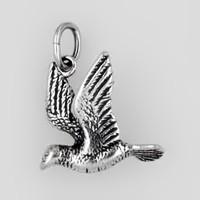 Anhänger Taube in echt Sterling-Silber 925 oder Gold, Charm, Ketten- oder Bettelarmband-Anhänger