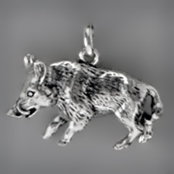 Anhänger Wildschwein echt Sterling-Silber 925 oder Gold, Ketten- oder Schlüssel-Anhänger