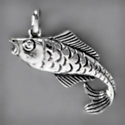 Anhänger Hering in echt Sterling-Silber oder Gold, Charm, Kettenanhänger oder Schlüssel-Anhänger