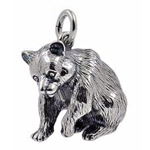 Anhänger Bären, Charms in Silber & Gold