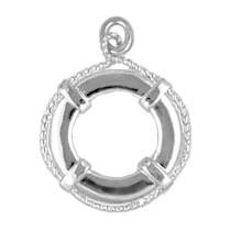 Anhänger Rettungsring in echt Sterling-Silber 925 oder Gold, Ketten- oder Schlüssel-Anhänger