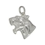 Anhänger Panther-, Leoparden-, Jaguar-, Puma - Kopf in echt Sterling-Silber 925 oder Gold, Ketten- oder Schlüssel-Anhänger