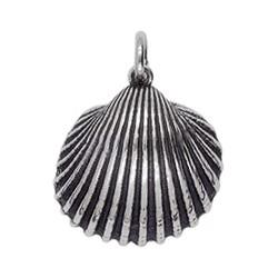 Anhänger Herzmuschel in echt Sterling-Silber 925 oder Gold, Ketten- oder Schlüssel-Anhänger
