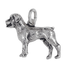 Anhänger Rottweiler, Hunde, Charms in Silber & Gold