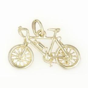 Anhänger Mountainbike in echt Sterling-Silber 925, Gold oder vergoldet, Charm, Ketten- oder Bettelarmband-Anhänger