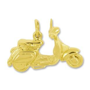 Anhänger Vespa in echt Sterling-Silber 925 oder Gold, Charm, Ketten- oder Bettelarmband-Anhänger