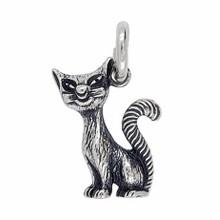 Anhänger Katze in echt Sterling-Silber 925 oder Gold, Ketten- oder Schlüssel-Anhänger