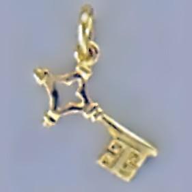 Anhänger Bremer Schlüssel in echt Sterling-Silber 925 oder Gold, Charm, Ketten- oder Bettelarmband-Anhänger