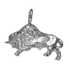 Anhänger Bison, Wisent in echt Sterling-Silber 925 oder Gold, Charm, Ketten- oder Bettelarmband-Anhänger