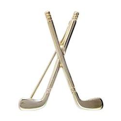 Brosche Golfschläger in echt Sterling-Silber 925 oder Gold