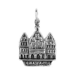Anhänger Frankfurt, Römer in echt Sterling-Silber 925 oder Gold, Ketten- oder Schlüssel-Anhänger