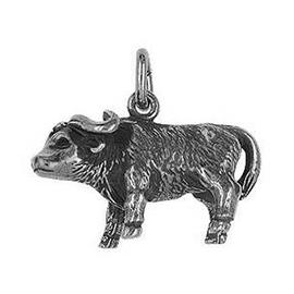Anhänger Büffel, Bisons, Rinder, Wisent, Charm in Silber & Gold