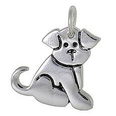 Anhänger Hund in echt Sterling-Silber 925, Ketten- oder Schlüssel-Anhänger