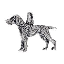 Anhänger Vorstehhund, English Pointer / Weimaraner in echt Sterling-Silber 925 oder Gold, Ketten- oder Schlüssel-Anhänger