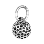 Anhänger Golfball in echt Sterling-Silber 925 oder Gold, Charm, Ketten- oder Bettelarmband-Anhänger