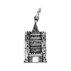 Anhänger Basel, Spalentor in echt Sterling-Silber 925 oder Gold, Ketten- oder Schlüssel-Anhänger