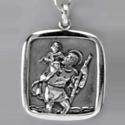 Anhänger Christophoros in echt Sterling-Silber 925, Ketten- oder Schlüssel-Anhänger