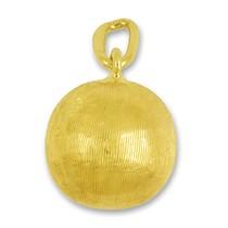 Anhänger Boule Kugel in echt Gelbgold, Charm, Ketten- oder Bettelarmband-Anhänger
