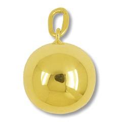 Anhänger Boule, Pétanque Kugel in echt Gelbgold, Charm, Ketten- oder Bettelarmband-Anhänger
