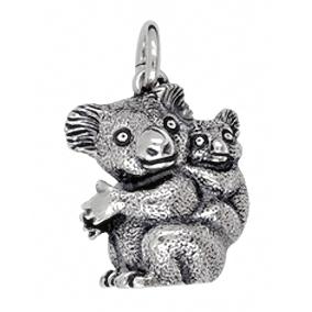 Anhänger Koalas, Charms in Silber & Gold