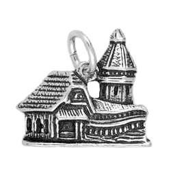 Anhänger Kapellbrücke Luzern in echt Sterling-Silber 925 oder Gold, Charm, Ketten- oder Bettelarmband-Anhänger