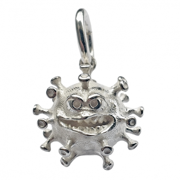 Anti - Coronavirus - Talisman, Anhänger, Charm in echt Sterling-Silber 925 oder Gold