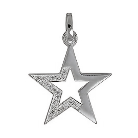Anhänger Sterne, Charms in Silber und Gold
