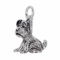 Anhänger Hund in echt Sterling-Silber 925 oder Gold, Charm, Ketten- oder Bettelarmband-Anhänger