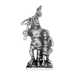 Anhänger Wilhelm Tell mit geschulterter Armbrust & Sohn Walter in echt Sterling-Silber 925 oder Gold, Ketten- oder Schlüssel-Anhänger