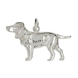 Anhänger Schweißhund in echt Sterling-Silber 925 oder Gelbgold, Ketten- oder Schlüssel-Anhänger