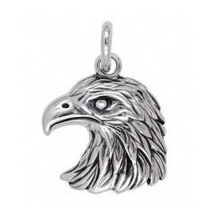 Anhänger Adlerkopf in echt Sterling-Silber oder Gold, Ketten- oder Schlüssel-Anhänger