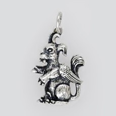 Anhänger Wolpertinger in echt Sterling-Silber 925 oder Gold, Charm, Ketten- oder Bettelarmband-Anhänger