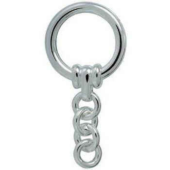 Spaltring, Schlüsselring mit Kette, Schlüsselmechanik in echt Sterling-Silber 925/000 für Anhänger