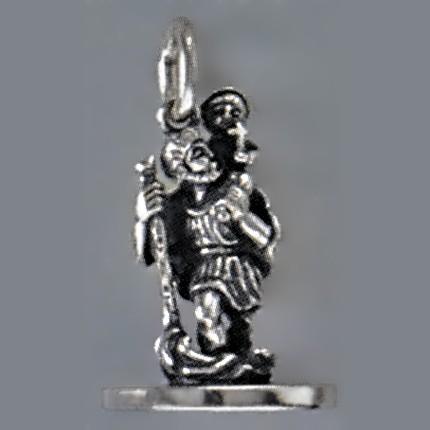 Petschaft Christophorus in echt Sterling-Silber 925