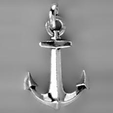 Anhänger Anker in echt Sterling-Silber 925 oder Gold, Ketten- oder Schlüssel-Anhänger