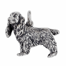 Anhänger Cocker Spaniels, Charms in Silber & Gold