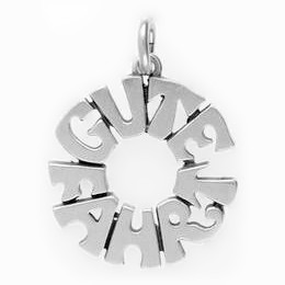 Schlüsselanhänger Gute Fahrt in echt Sterling-Silber 925