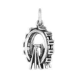 Anhänger Riesenrad in echt Sterling-Silber 925 oder Gold, Charm, Ketten- oder Bettelarmband-Anhänger