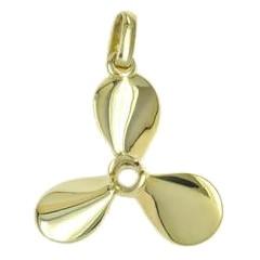 Anhänger Schiffsschraube, Propeller in echt Sterling-Silber 925 oder Gold, Ketten- oder Schlüssel-Anhänger