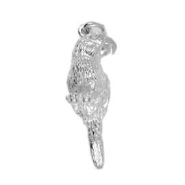 Anhänger Papagei in Sterling-Silber oder Gold, Ketten- oder Schlüssel-Anhänger
