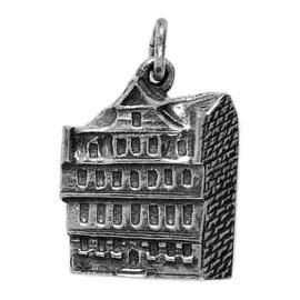 Anhänger Frankfurt, Goethe-Haus in echt Sterling-Silber 925 oder Gold, Charm, Ketten- oder Bettelarmband-Anhänger