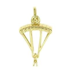 Anhänger Gleitschirmflieger in echt Sterling-Silber 925 oder Gold, Charm, Ketten- oder Bettelarmband-Anhänger