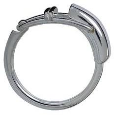 Schlüsselring mit Hebelverschluss, Schlüsselmechanik in Sterling-Silber 925/000 für Anhänger