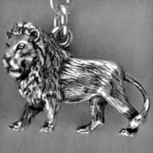Anhänger Löwe, Tierkreiszeichen, Sternzeichen in echt Sterling-Silber 925 oder Gold, Ketten- oder Schlüssel-Anhänger