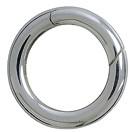 Federring, Schlüsselring mit Schnappverschluss, Schlüsselmechanik in Sterling-Silber 925/000 für Anhänger
