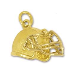 Anhänger American Football Helm in echt Sterling-Silber 925 oder Gold, Charm, Ketten- oder Bettelarmband-Anhänger