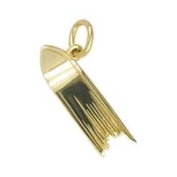 Anhänger Skispitze in echt Sterling-Silber 925 oder Gold, Charm, Ketten- oder Bettelarmband-Anhänger